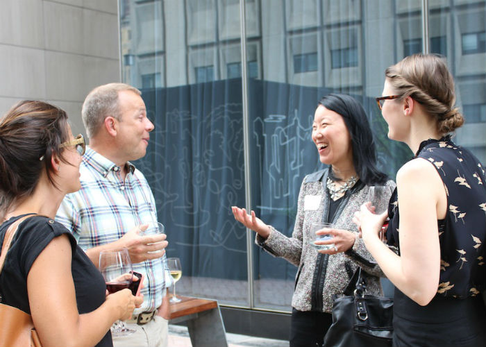 Outdoor reception at Industry Lab in NYC. Credit: Future of Fish.