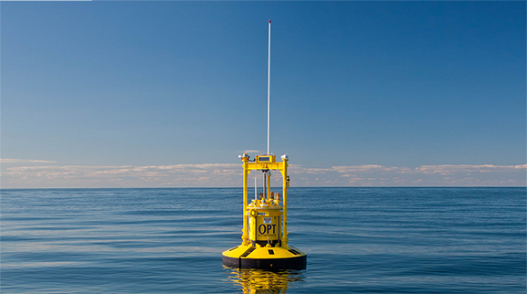 PB3 PowerBuoy when deployed off of New Jersey under the U.S Navy's Littoral Expeditionary Autonomous PowerBuoy (LEAP) Program.