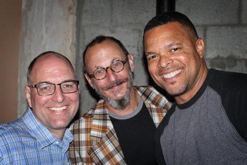 Tony Bancroft, Dan Piraro and Robb Armstrong enjoy arranging their smiles on an angle.