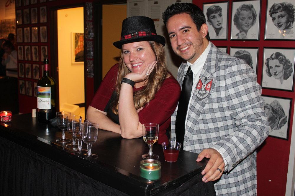 Tony and Lindsay Carrillo enjoy tending bar