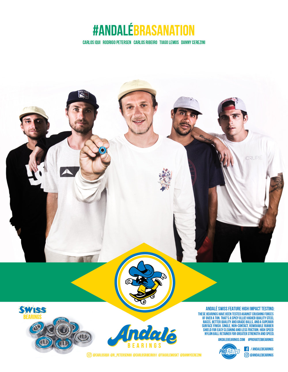 Andale Bearings Brasil Crew Brasa Nation thrasher magazine ad