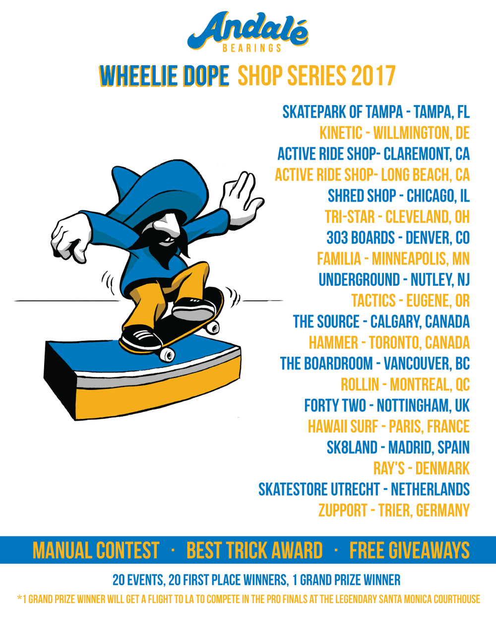 andale wheelie dope shop series 2017