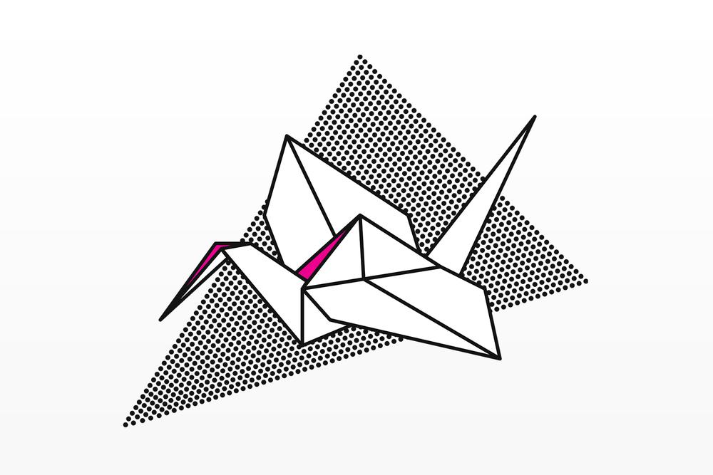Society6 Crane 0 Origami Illustration Series