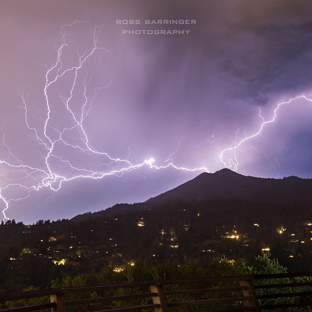 A frame from the time-lapse I took of last nights lightning storm. #mttamalpais #bayarea #lightning