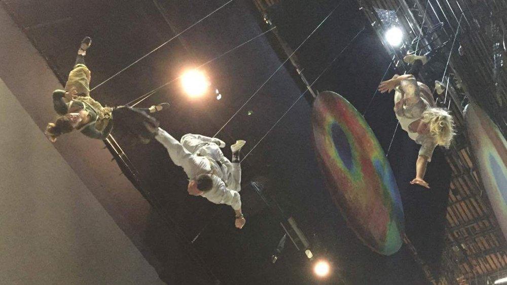 Flying.  Again.  Upside down.