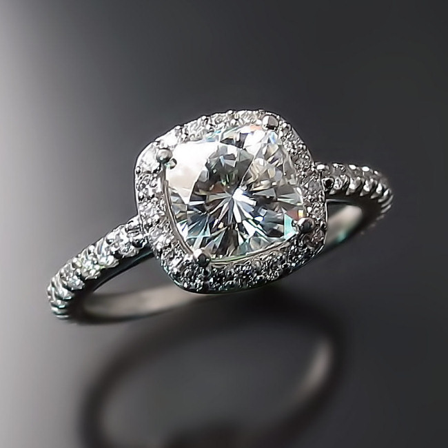 product cushion diamond in platinum ring engagement mine art home cut style modern old deco rings
