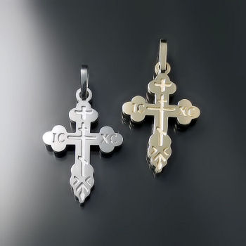 Orthodox Cross Pendants ZD-E6 (heavier style)