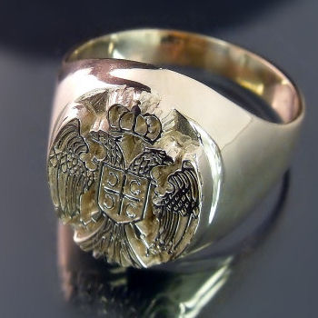 Serbian Coat of Arms Ring (ZD-2097) Prsten sa srpskim grbom