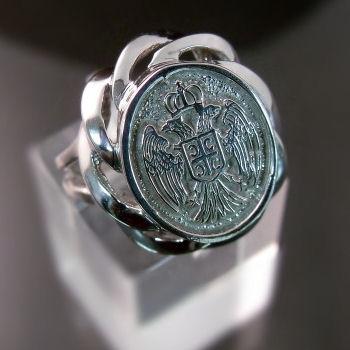 Ladies' SerbianCrestRing ZD-604 Zenski prsten sa srpskim Grbom