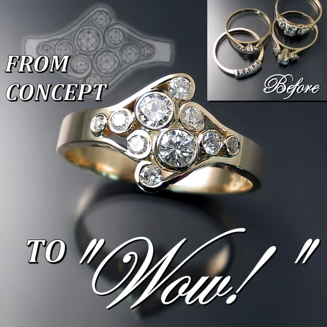 Custom Jewellery Design Before And After Zoran Designs Jewellery
