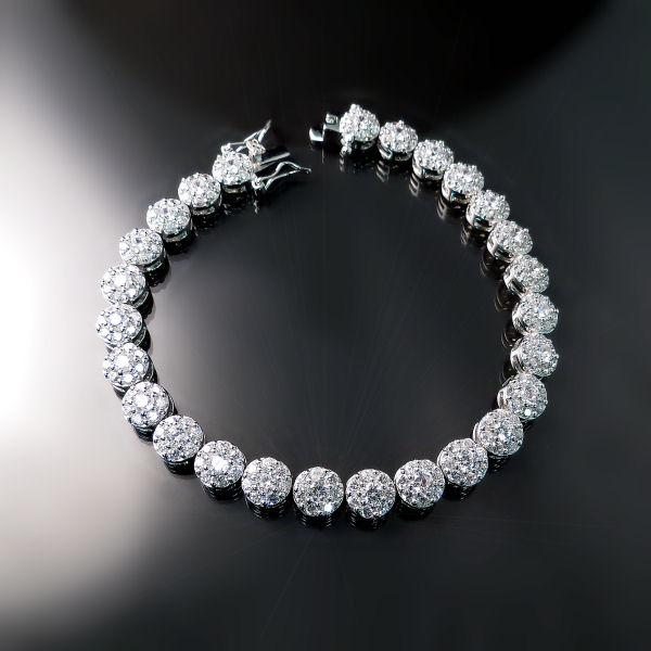 Diamond Imitation Tennis Bracelet - Cubic Zirconia Jewellery