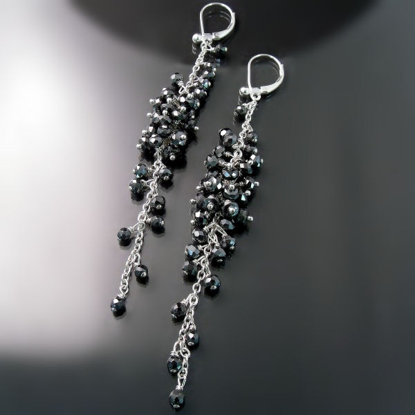 Elegant Long Dangle Earrings - Dressy Party Earrings