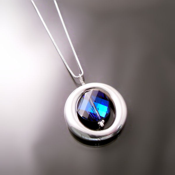 Prismatic Blue Swarovski Crystal Pendant - Fashion Jewellery Style
