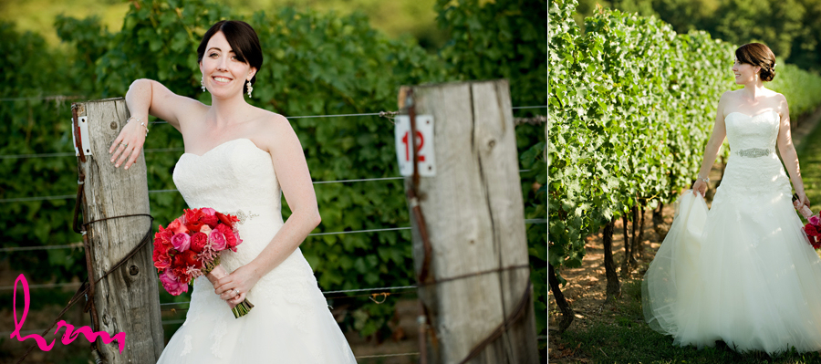 Modern elegant bride at Niagara winery