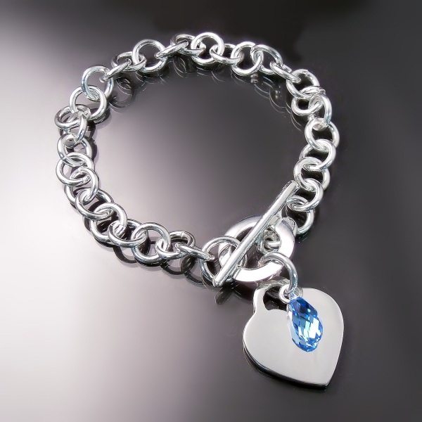 "Sterling silver ""Tiffany"" style bracelet at Hamilton Burlington Jeweller Zoran Designs"