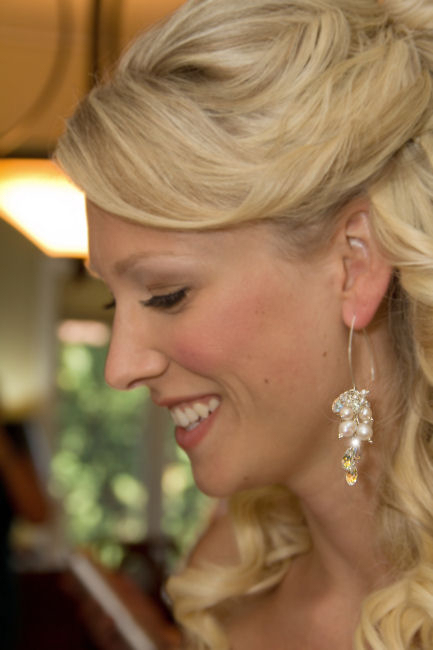 glamorous long wedding earrings
