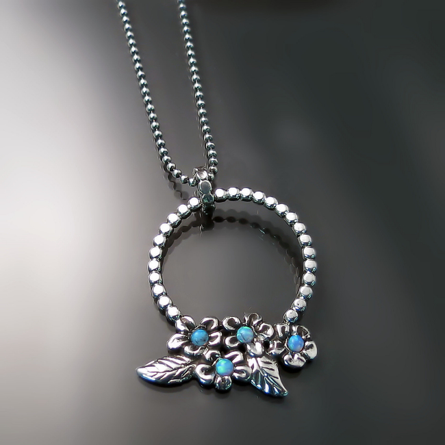 flower necklace spring jewelry