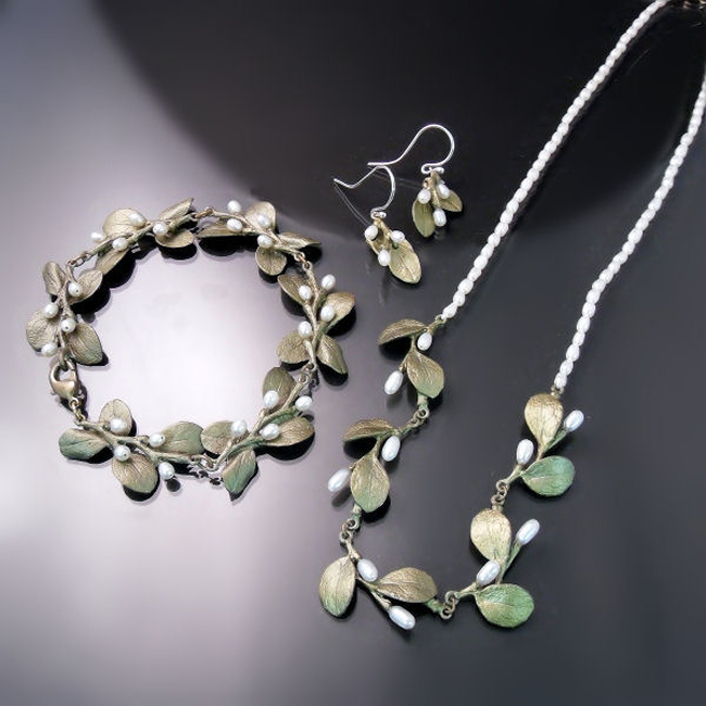 botanical jewellery irish thorn necklace bracelet earrings