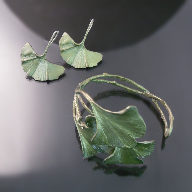 ginkgo leaf nature jewellery gta toronto hamilton burlington niagara