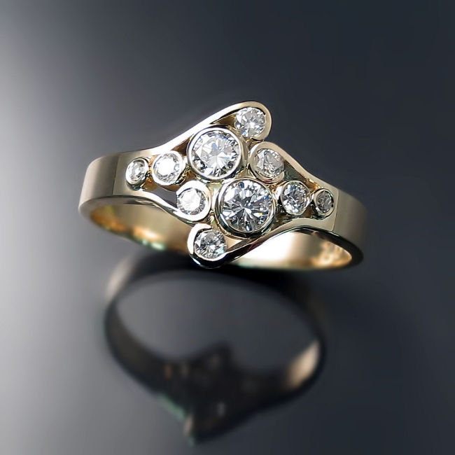 custom ring design by hamilton jewelry designer Maja Prvanovic Kogut of Zoran Designs