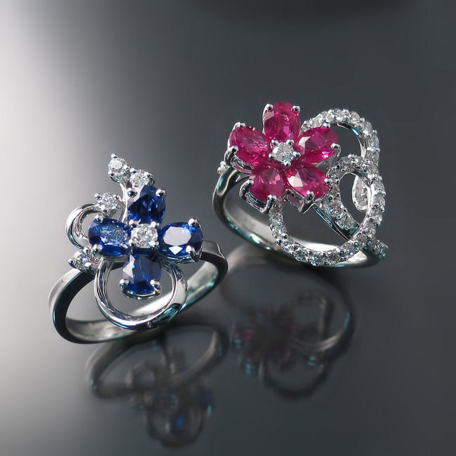 ruby sapphire diamond rings