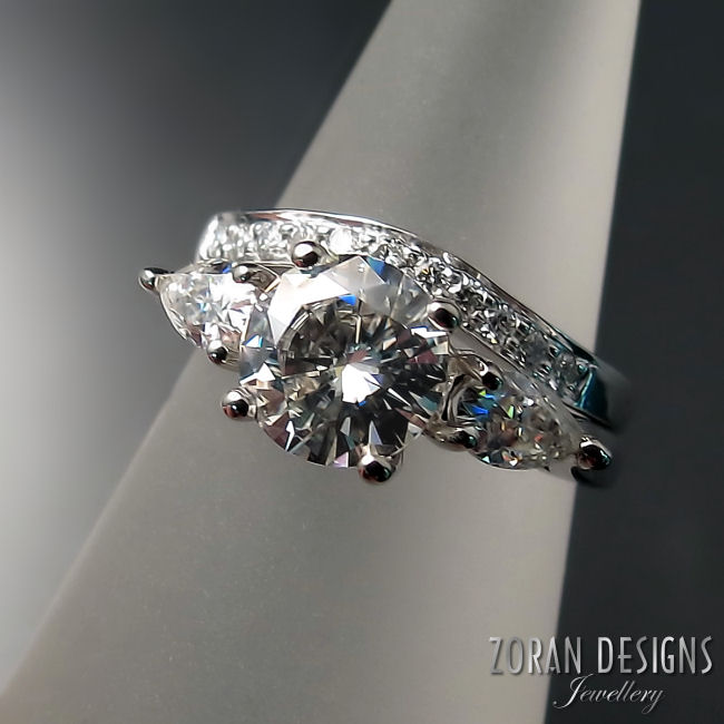 Custom Engagement Ring & Wedding Band
