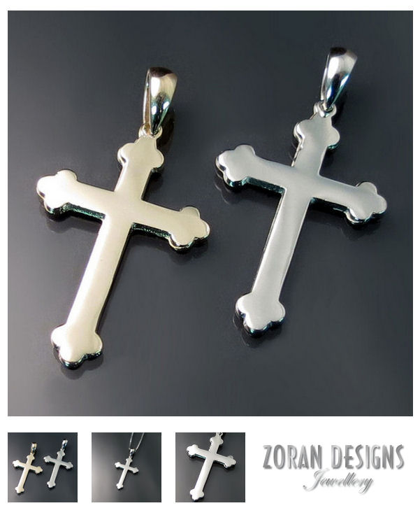 Orthodox crosses in yellow and white gold