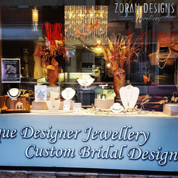 Our jewellery store window display in autumn glory