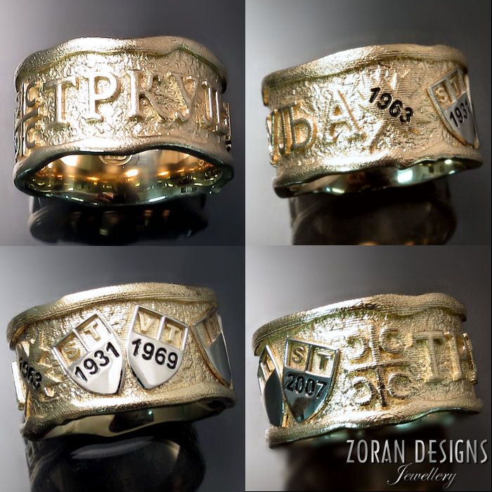 Men's Serbian Family Ring - Custom Made Jewellery