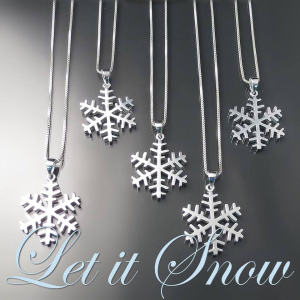 Zoran Designs Jewellery will be giving away these pretty silver snowflake pendants