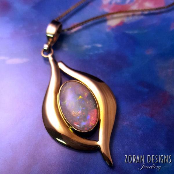 Fine Custom Jewellery: Australian Opal Pendant