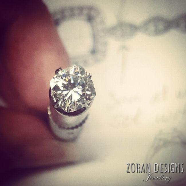 Designing a bespoke, vintage inspired engagement ring