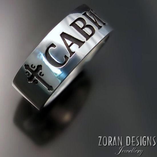 Srpski prsten sa pravoslavnim krstom i vašim imenom