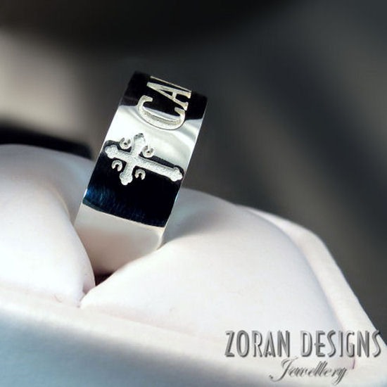 Prsten sa srpskim krstom i imenom