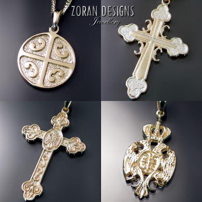 Srpski pravoslavni krst, kruna, grb