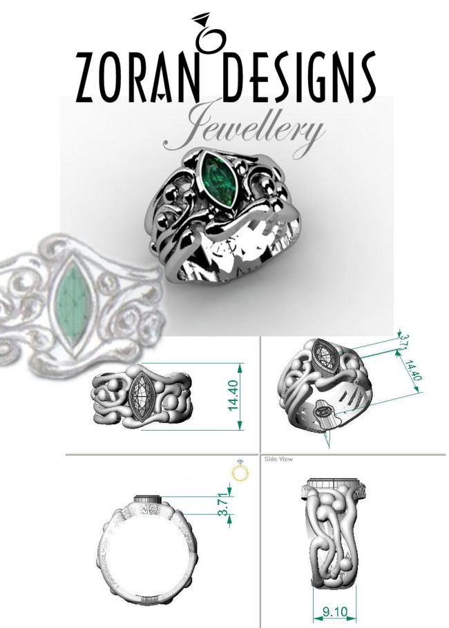 Design renders for custom ring