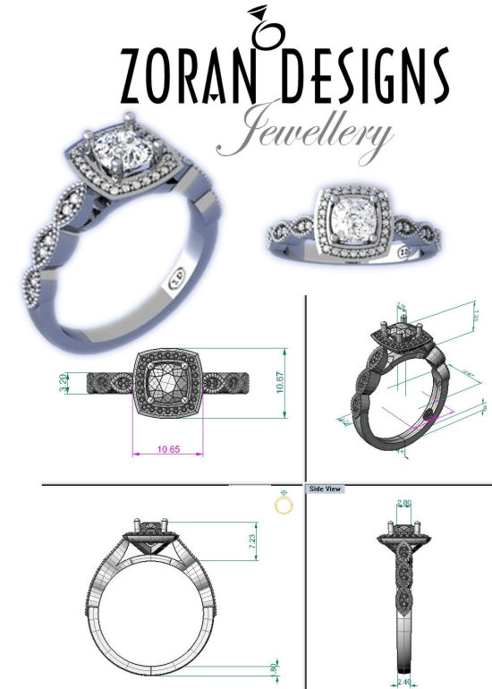 Designer custom engagement rings Hamilton Burlington Oakville Toronto GTA