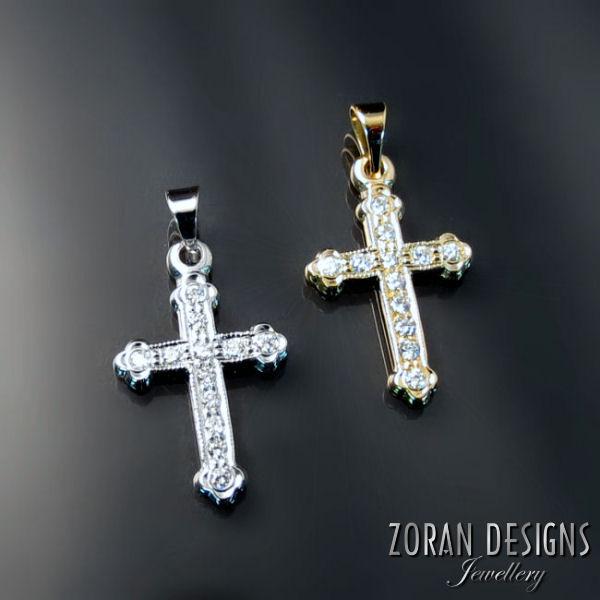 Baptismal orthodox crosses zoran designs jewellery orthodox crosses with diamonds aloadofball Gallery
