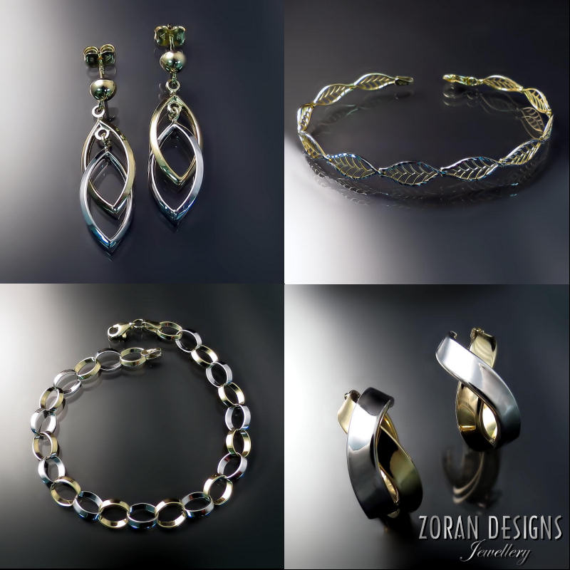 Unique, modern and elegant gold jewellery