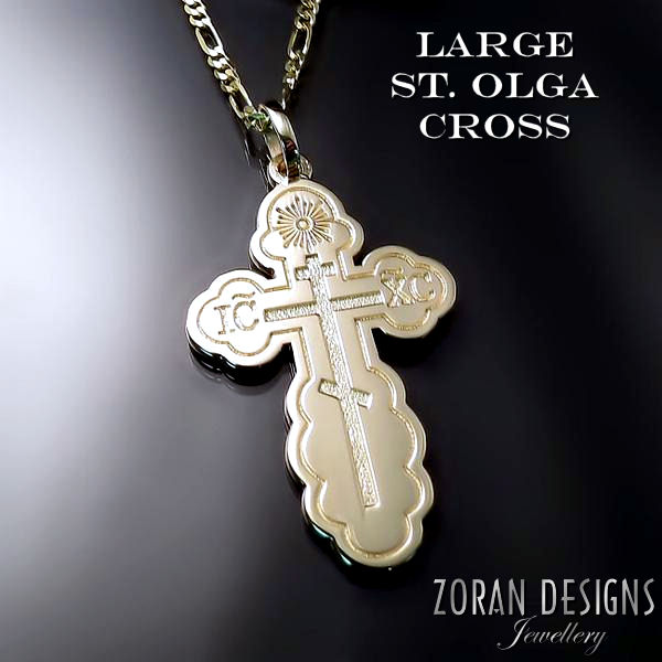 Eastern Orthodox cross for men