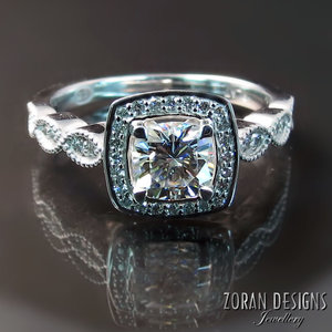 9fae89998f64b4 Back to Our Jewellery. Custom Engagement Ring