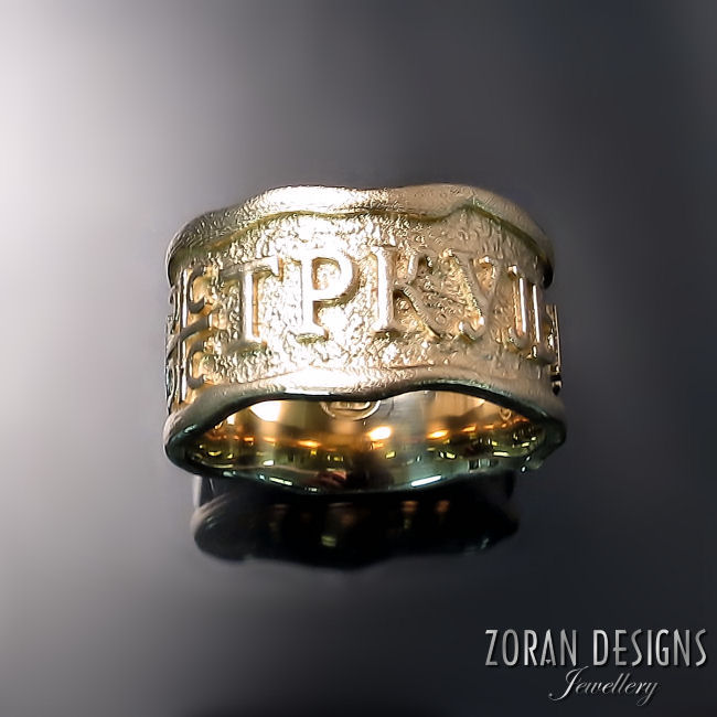 Custom Jeweller Mens Family Ring Zoran Designs Jewellery