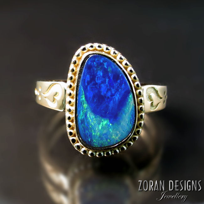 Custom made opal ring - Jewellery Designer
