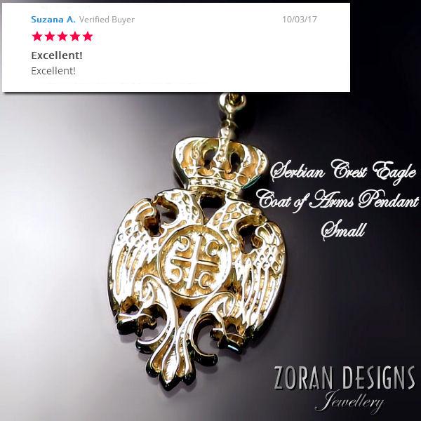 zlatni privezak: srpski grb, srpska kruna