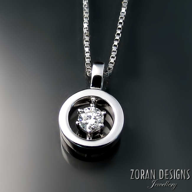 Custom diamond pendant by Hamilton ON jeweller