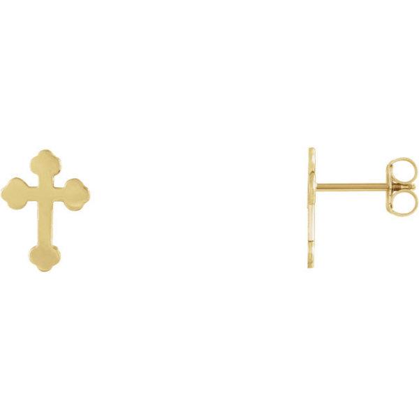 Orthodox Cross Stud Earrings