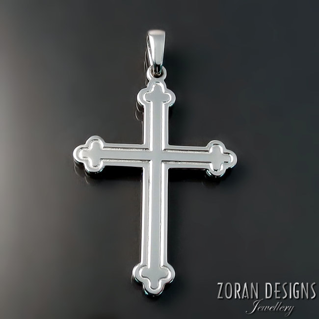 Platinum Orthodox Cross
