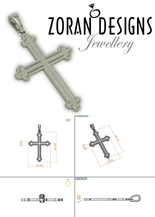 Men's Orthodox Cross Design