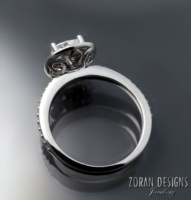 Engagement ring with elegant details