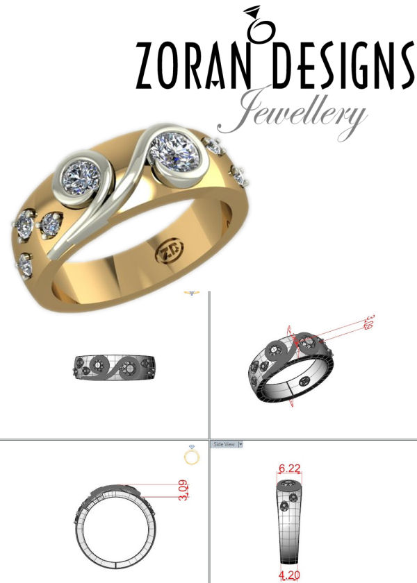 Beach and ocean inspired ring design:Maja Prvanovic-Kogut - Zoran Designs Jewellery